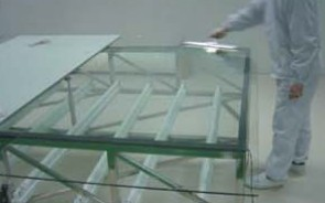 1 clean the float glassProcess Smart Privacy Switchable Glass